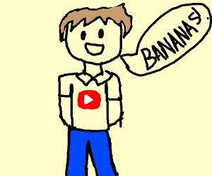 YouTuber Mumbo Jumbo yelling Bananas