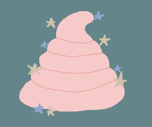 pink sparkly poo