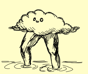 Cloud with great legs
