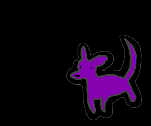 Purple doggy