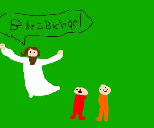Jesus Spreads The Word: Bike Means Bichael