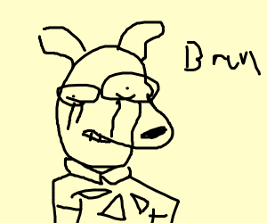 Rocko from Rocko's Modern Life crying