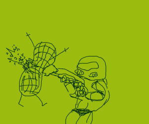DOOM but with peanuts