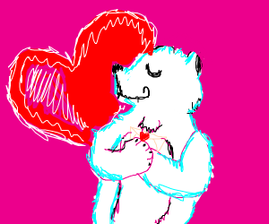 polar bear in love
