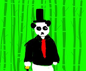 Classy Panda in a top hat