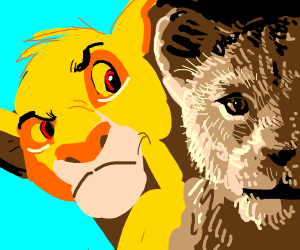 Old lion king hates photorealistic lion king