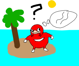 Knuckles is lost