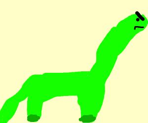 angry green brontosaurus