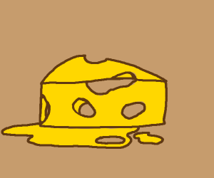 Oh, great. The cheese has melted.
