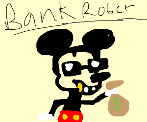 badass mouse robs a bank with style