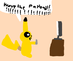 Pikachu plays a video game