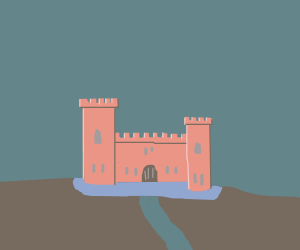 a  pastel castle thing