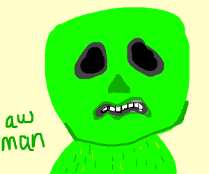 Realistic render of a Minecraft Creeper