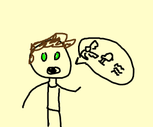 Guy speaking in glyphs