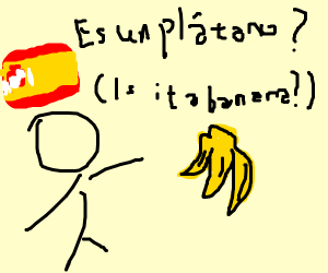 Is it a banana (in spanish)