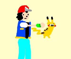 Ash sacrifices pikachu