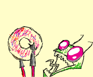 Invader Zim FINALLY MANAGES TO GET A DONUT
