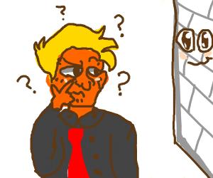 trump confussed at senpai wall
