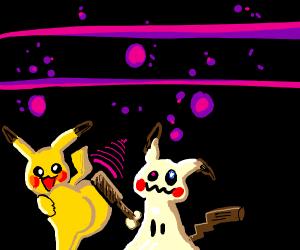 Mimikyu slaps pikachu