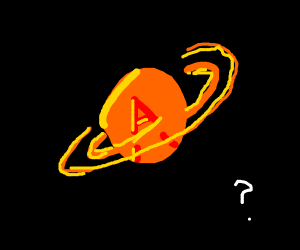 Saturn with a captial A on it