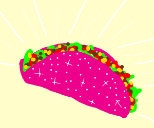 Sparkling pink taco