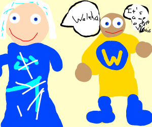 Waluigi-Elsa and Wario-Minion