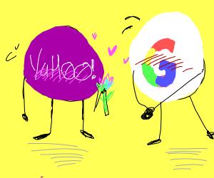 Blushing yahoo wants blushing google