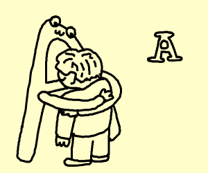 Sans hugs you to comfort you