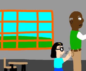 little tina has struck the substitute teacher