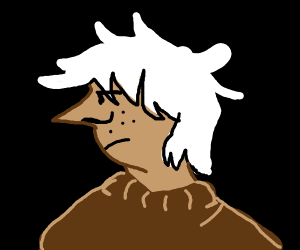 kid with a pointy nose and white/grey hair