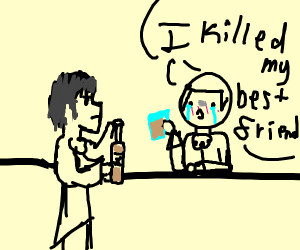 Bartender and guy in a bar
