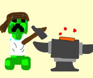 Creeper the anvil man