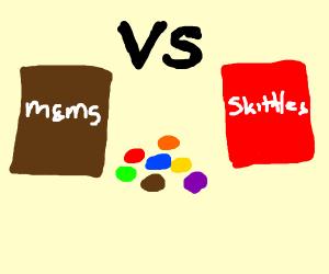 M&Ms vs. Skittles