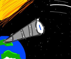 telescope into space