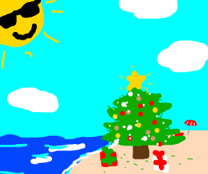 Christmas tree in the summer