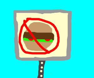 No hamburgers allowed