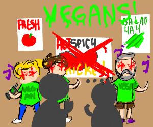 Vegans take over KFC