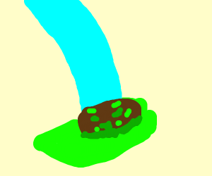 Shoes stepping in green goo