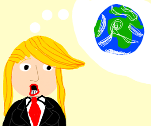 Trump as a girl thinking about the world