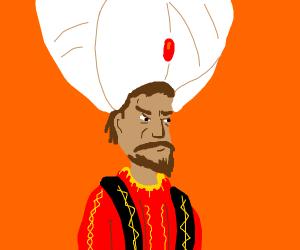 Man with Giant Turban