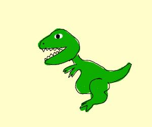 a green t rex