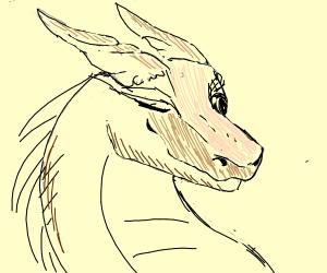 A winking dragon