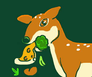 Deer eating EVERYTHING
