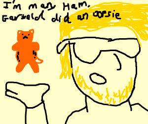 Garfield did an OOPSIE