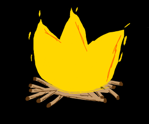 A Yellow Flame