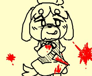 Isabelle (Animal Crossing) has did a murder
