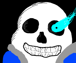 sans looks oddly terrifying and realistic
