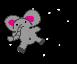 Dumbo goes to space