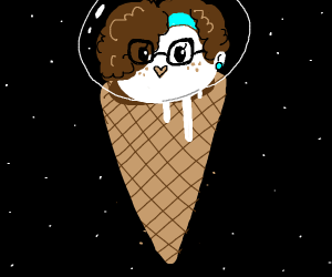 Your head on an ice cream cone.