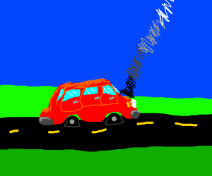A broken down car